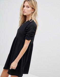 Read more about Asos smock mini dress - black