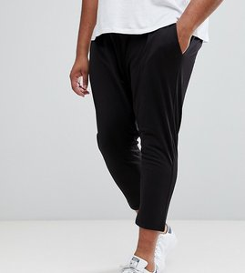 Read more about Asos plus tapered joggers in poly tricot - black