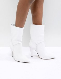 Read more about Asos ellina leather ankle boots - white leather