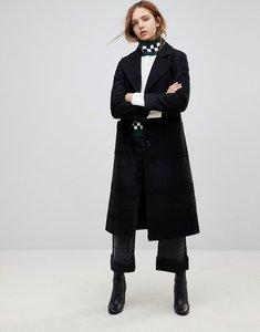 Read more about Helene berman wool blend longline belted coat - black