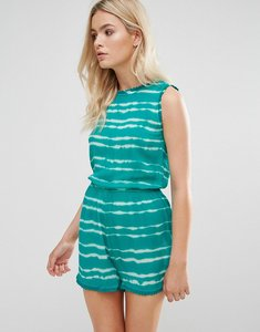 Read more about Brave soul phoebe tie dye playsuit - jade
