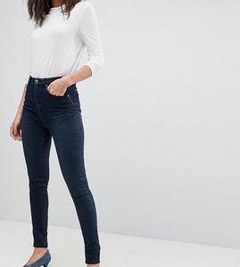 Read more about Asos tall sculpt me high rise premium jeans in vivienne dark wash blue - dark wash blue