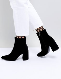 Read more about Mango velvet boot - black