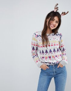 Read more about Asos foundation all things christmas jumper in metallic yarn - multi