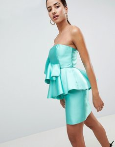 Read more about Asos design cocktail mini dress with extreme ruffles - turquoise