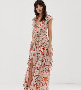 Read more about Dusty daze maxi dress with ruffle detail in vintage floral