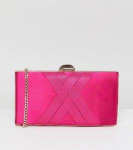 Read more about Carvela dani satin clutch bag - pink