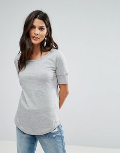 Read more about Brave soul gina scoop neck t shirt - mid grey marl