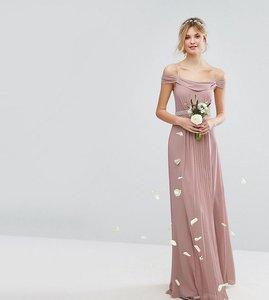 Read more about Tfnc tall cold shoulder embellished maxi bridesmaid dress - mauve
