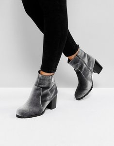 Read more about Head over heels by dune pipaa velvet boots - grey