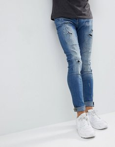 Read more about Blend lunar light wash distressed super skinny jeans - lightwash 11