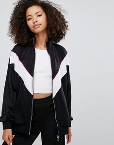 Read more about Pull bear co ord track jacket - black