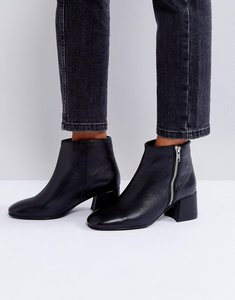 Read more about Park lane zip mid heel leather boot - black leather