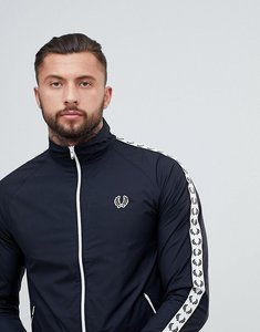 Read more about Fred perry sports authentic taped sports jacket in black - black
