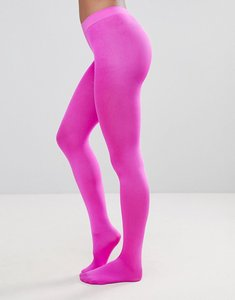 Read more about Asos 90 denier high shine tights in pink - pink