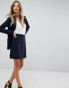 Read more about Asos tailored a-line mini skirt - navy