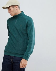 Read more about Farah finniestone zip neck sweat in navy - navy