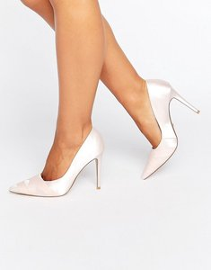 Read more about Dune london archivve ribbon detail pointed court shoes - nude