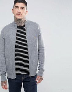 Read more about Farah fermoy slim fit double faced knitted track jacket in grey - gravel marl 038