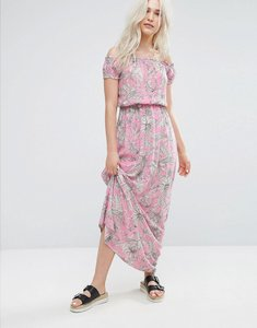 Read more about Pimkie palm print maxi dress - pink