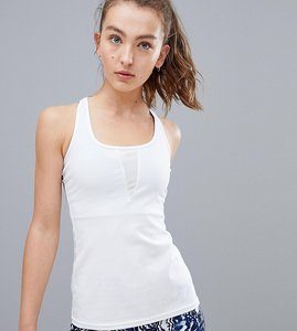 Read more about South beach white racer back sports vest - white