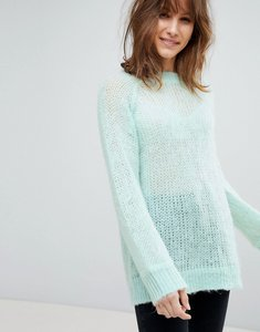 Read more about Asos design oversized jumper in fluffy yarn - mint