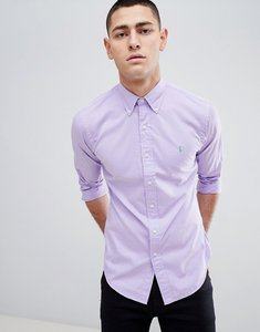 Read more about Polo ralph lauren slim fit garment dyed shirt polo player in lilac - powder purple