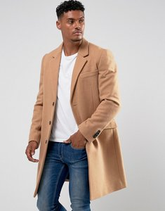 Read more about Asos design wool mix overcoat in camel - camel