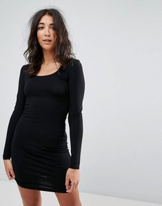 Read more about Miss selfridge scoop neck bodycon dress - black