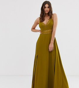 Read more about Asos design maxi dress with guipure lace waist trim