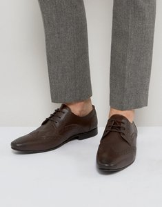 Read more about Kg by kurt geiger kenford brogue derby shoes brown leather - brown