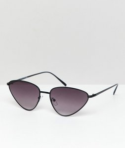 Read more about Bershka wire frame sunglasses in black - black