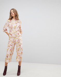 Read more about Vero moda floral cropped jumpsuit - rose
