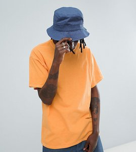Read more about Reclaimed vintage inspired oversized overdye t-shirt in orange - orange