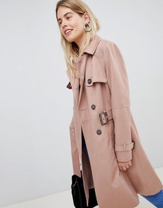 Read more about New look structured mac trench coat - light pink