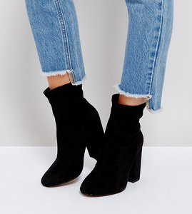 Read more about Asos elaborate wide fit sock boots - black