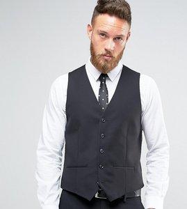 Read more about Farah skinny waistcoat in black - black