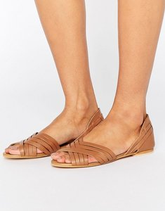 Read more about Asos juza leather summer shoes - tan