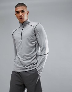 Read more about New look sport long sleeve top with half zip in grey - mid grey