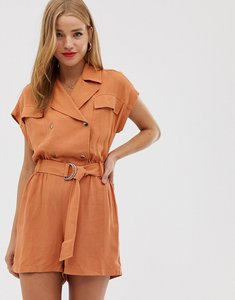 Read more about Pull bear utility playsuit in orange