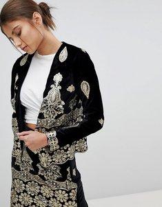 Read more about Missguided embellished festival jacket - black
