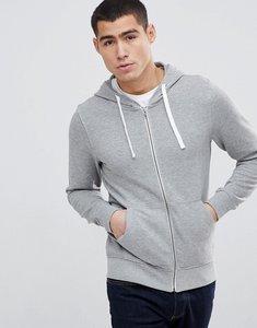 Read more about Produkt zip through hoodie - light grey melange
