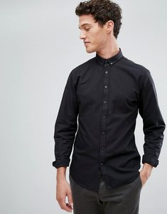 Read more about Lindbergh buttondown oxford shirt in black - black