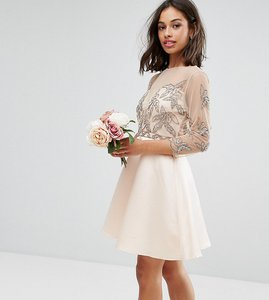 8fbe726f04b Read more about Maya petite allover embellished mini prom skater dress -  pink
