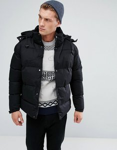 Read more about Bellfield hooded padded jacket - black