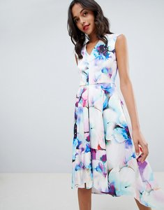 Read more about Closet london printed midi prom dress - multi