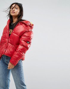 Read more about Puffa oversized jacket with hood - red