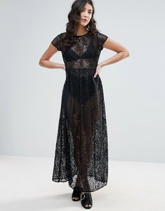 Read more about Traffic people lace maxi dress - black