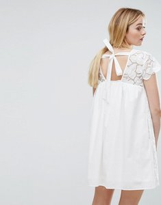 Read more about Max co denise embroidery dress - ivory