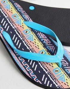 Read more about Asos flip flops in festival print - black